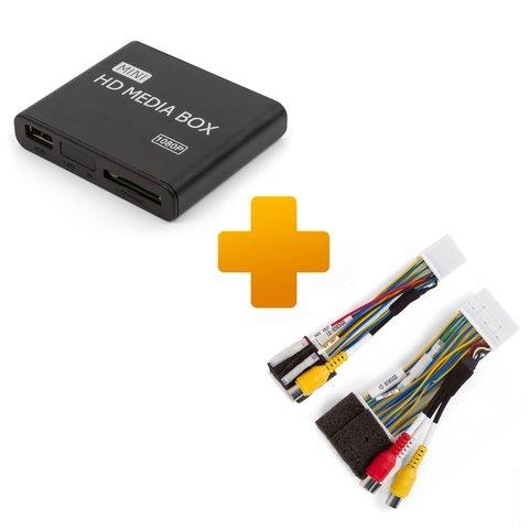 Мультимедийный Full HD плеер и кабель подключения для мониторов Toyota Touch, Scion Bespoke
