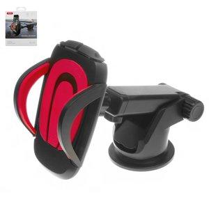 Автомобильный держатель XO C3, черный, красный, выдвижной, вакуумная присоска