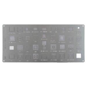 BGA Stencil A00 for HTC G1, G10, G11, G12, G13, G14, G15, G16, G17, G18, G2 , G20, G21, G3, G4, G5, G6, G7, G8 , G9 Cell Phones, (39 in 1)