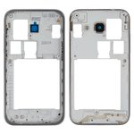 Housing Middle Part compatible with Samsung G360H/DS Galaxy Core Prime, (silver, dual SIM)