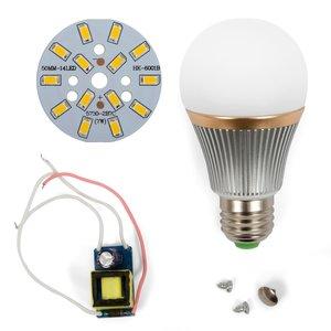 Комплект для сборки светодиодной лампы SQ-Q22 7 Вт (теплый белый, E27)