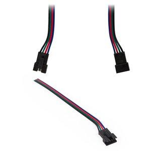 Соединительный кабель 4-контактный JST для светодиодных лент RGB SMD 5050,  WS2813, female-разъем (
