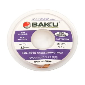 Лента-оплетка BAKU BK 3015, (Д) 1,5 м, (Ш) 3,0 мм