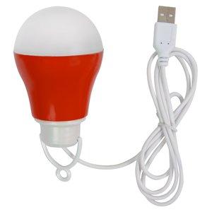 USB LED-світильник 5 Вт (холодний білий, корпус червоний, 5 В, 450 лм)