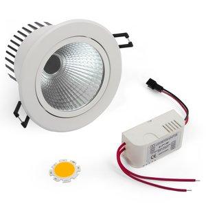 Комплект для сборки потолочного светильника COB 7 Вт (теплый белый)