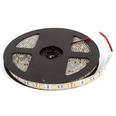 Світлодіодна стрічка SMD5050 біла, 60 світлодіодів, 12 В DC, 1 м, IP65