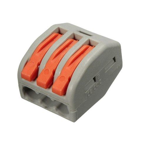 Прямий 3 контактний конектор для з'єднання проводів 250 В 30 А
