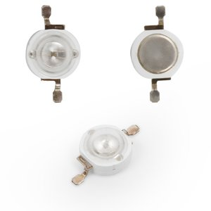 LED 1 W (green, 70 lm, 520 nm, 350 mA, 3.2-3.4 V)