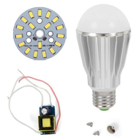 LED Light Bulb DIY Kit SQ Q17 9 W cold white, E27 , Dimmable