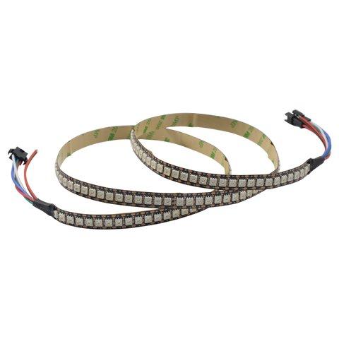 RGB LED Strip SMD5050, WS2813 with controls, black, IP20, 5 V, 144 LEDs m, 1 m