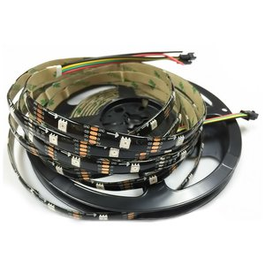 Tira de luces LED RGB SMD5050, WS2813 (con controles, negra, IP65, 5 V, 30 diodos LED/m, 5 m)