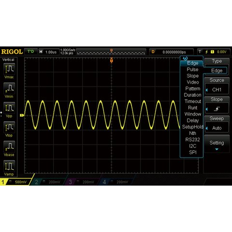 Advanced Triggering Option RIGOL AT DS1000Z
